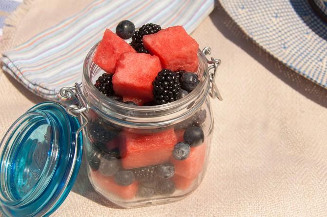 Red, Black & Blue Fruit Salad