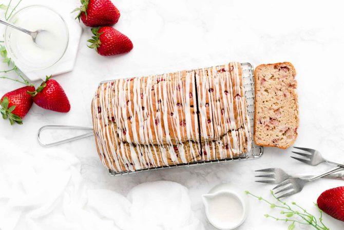Healthy Strawberry Pound Cake