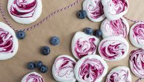 Blueberry Meringue Swirls