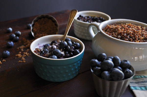 Warm Blueberry Quinoa
